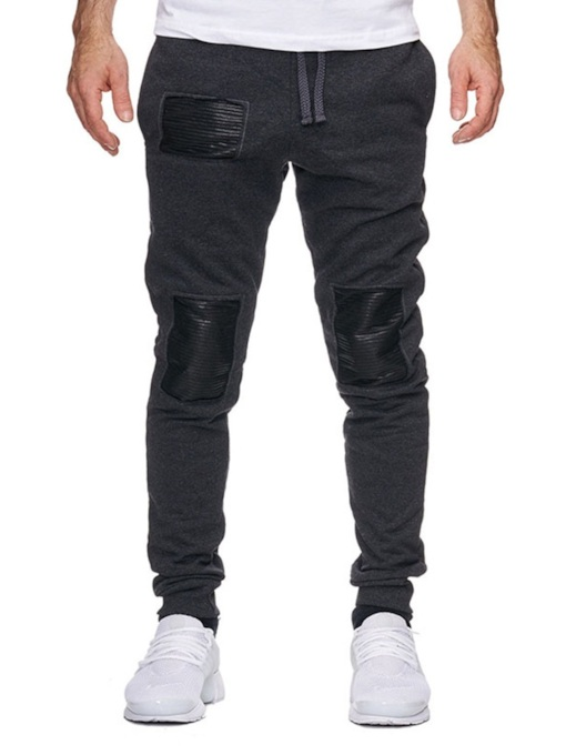 Color Block Patchwork Men's Casual Pants