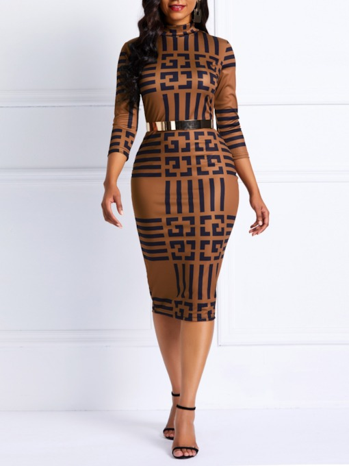 Geometric Prints Pencil Women's Bodycon Dress