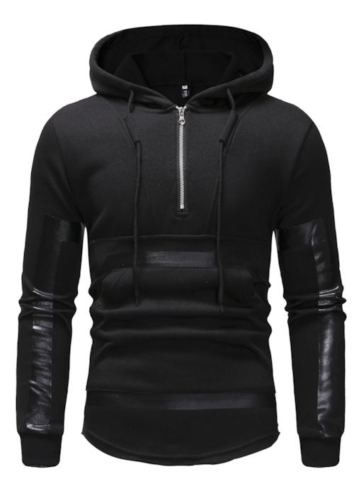 Slim Pullover Zipper Casual Men's Hoodie