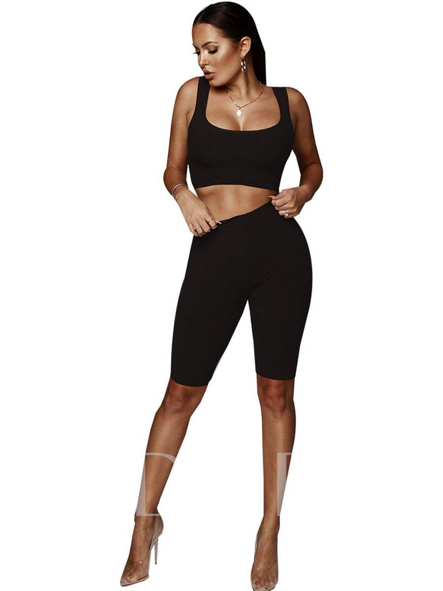 Workout Suit Cotton Solid High Elasticity Women's Sports Suit
