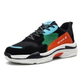 Low-Cut Upper Color Block Lace-Up Round Toe Chic Men's Sneakers