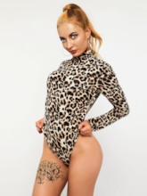 Short Leopard Casual Slim Women's Rompers