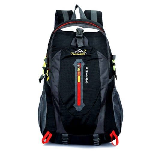 Nylon Color Block Travelling Outdoor Backpack