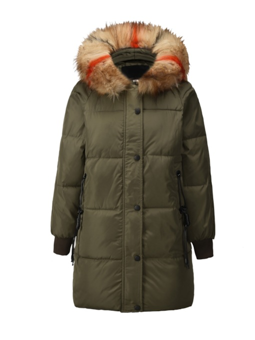 Faux Fur Lined Parkas Women's Cotton Clothes