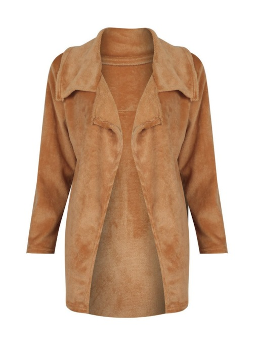 Loose Fluffy Wide-Lapel Women's Overcoat