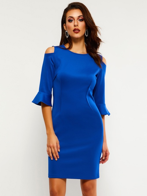 Pullover Half Sleeve Pencil Women's Bodycon Dress