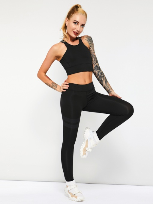 Sport Yoga Vest and Pants Women's Two Piece Set