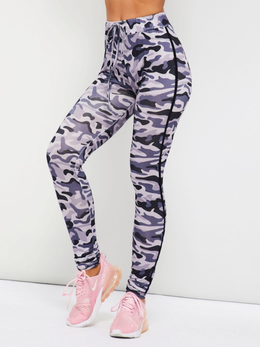Casual Polyester Camouflage Women's Leggings