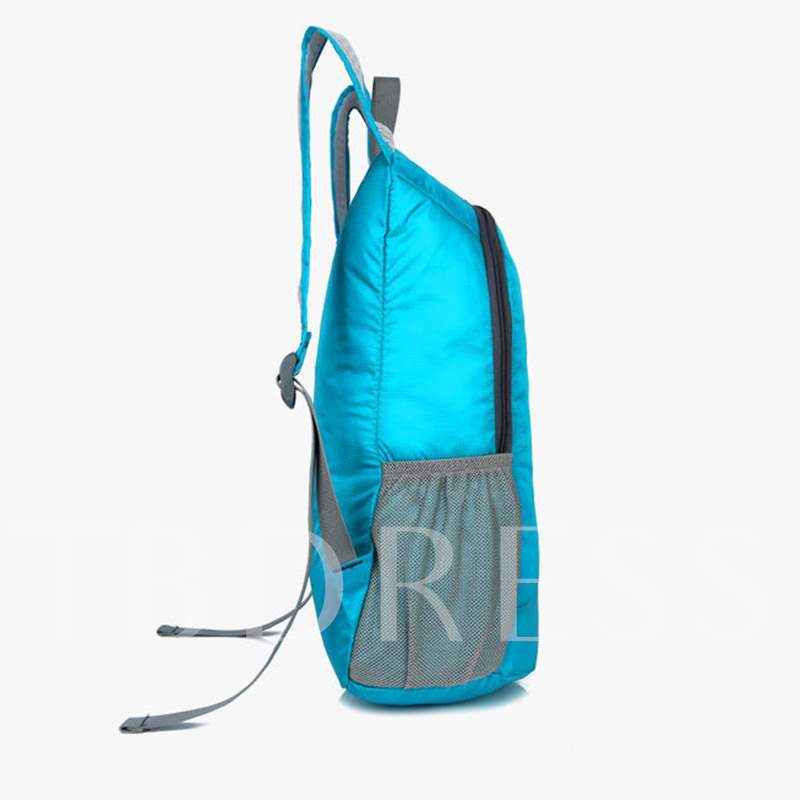Nylon Letter Print Travelling Bags Sports Backpack
