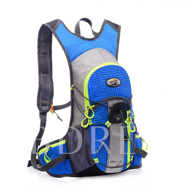 Nylon Color Block Plaid Travelling Sports Bags