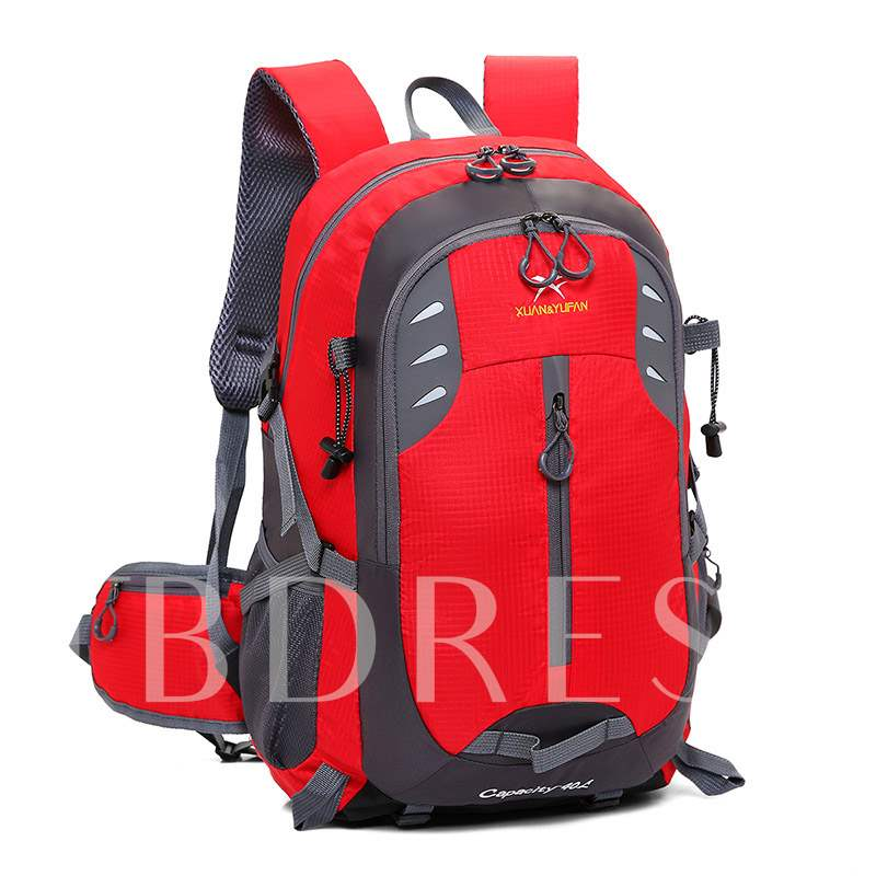 Nylon Color Block Letter Outdoor Bags