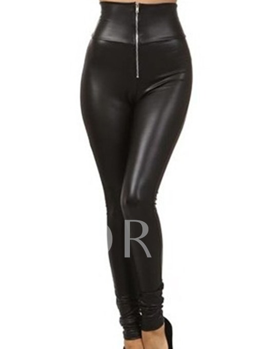 Thin England Polyester Zipper Women's Leggings