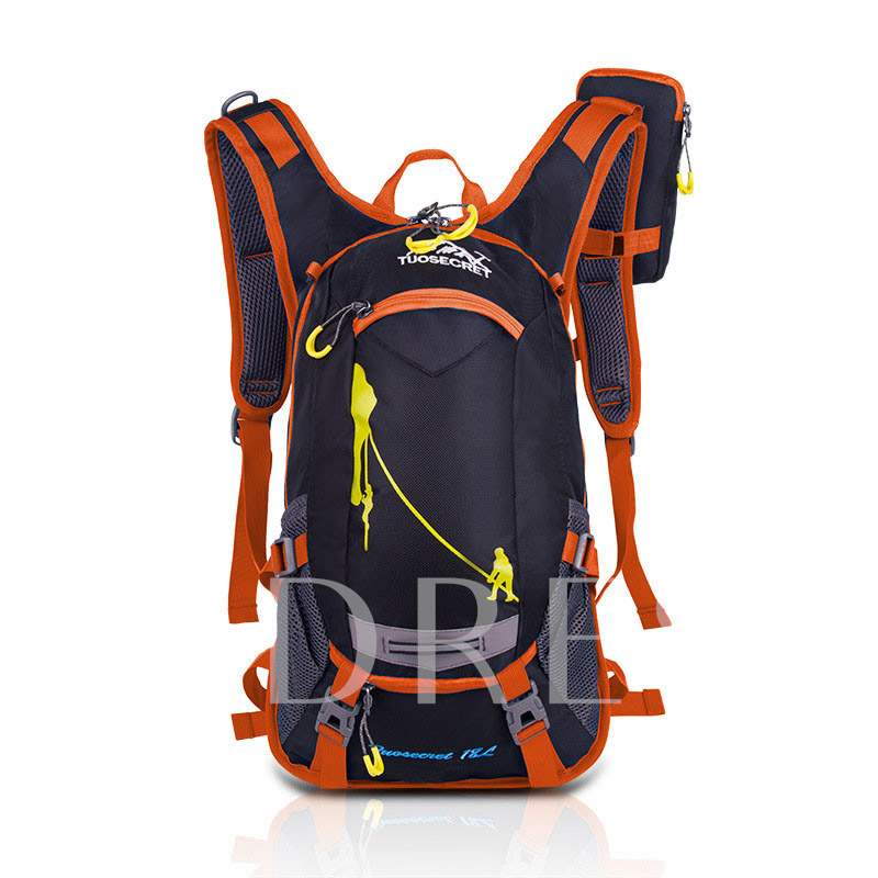 Nylon Color Block Travelling Bags Hiking Backpack