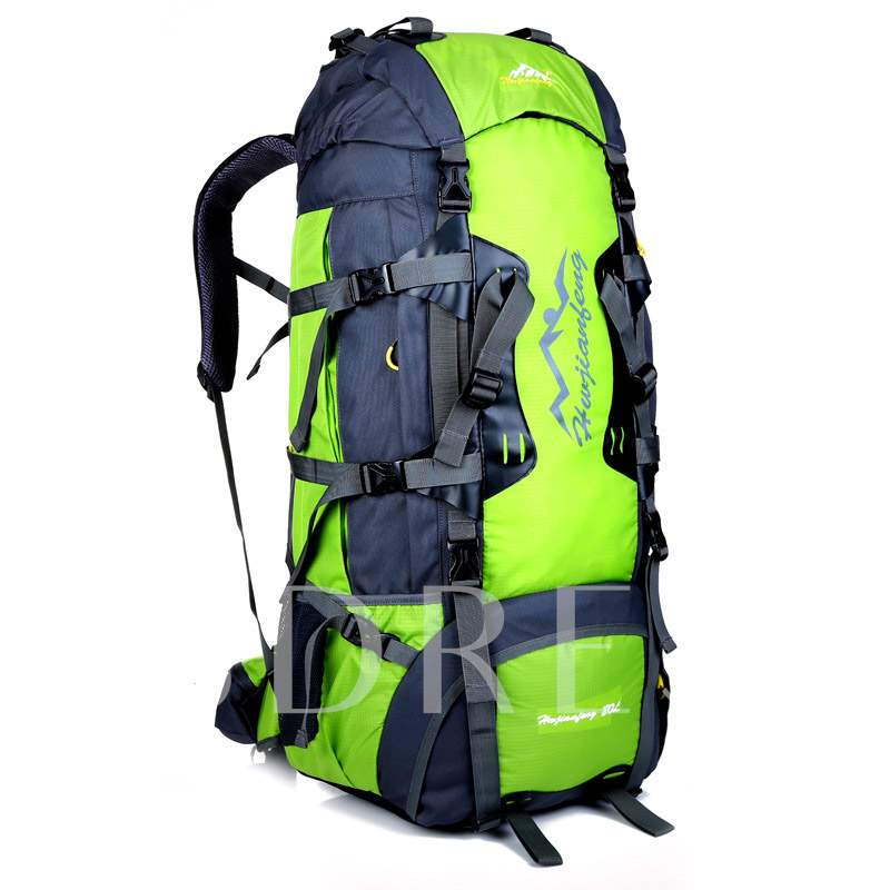 80L Huge Space Patchwork Travelling Bags Outdoor Backpack