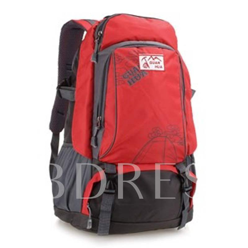 Letter Nylon Color Block Outdoor Travelling Bags