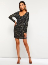 See Through Sequins Sexy Women's Bodycon Dress