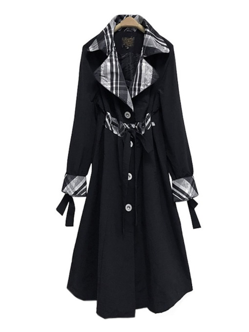 Single-Breasted Notched Lapel Women's Trench Coat