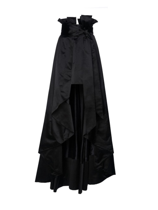 High-Waist Ankle-Length Asymmetric Women's Skirt