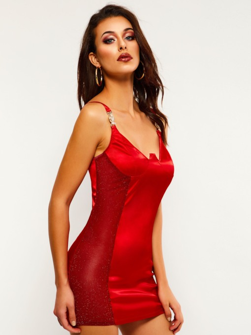 Sleeveless Spaghetti Strap Women's Sexy Dress