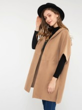 Plain Hooded Wrapped Women's Cape
