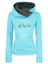 Embroidery Kangaroo Pocket Women's Hoodie