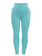 Fluorescent Color Textured Stretchy Breathable Women's Leggings