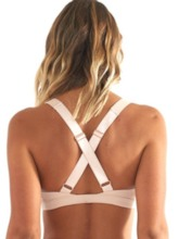 Adjusted-Straps Quick-Dry Plain Free Wire Sports Bra