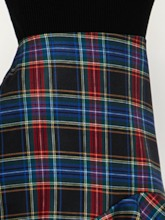 High-Waist Mermaid Plaid Women's Mini Skirt