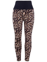 Breathable Leopard Stripe Sports Leggings for Women