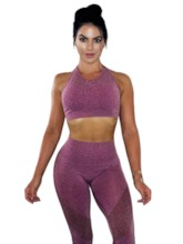 Workout Suit Breathable Full Length Sleeveless Sports Set for Women