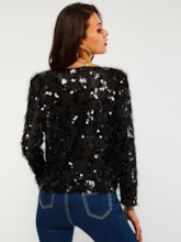 Sequins Tassel Pullover Women's Sweater