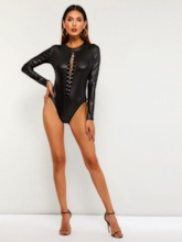Plain Hollow Short Sexy Skinny Women's Rompers