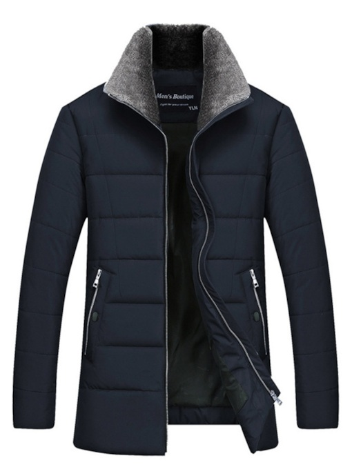 Thick Straight Plain Casual Men's Down Jacket