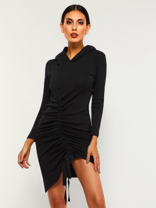 Asymmetric Bodycon Women's Long Sleeve Dress