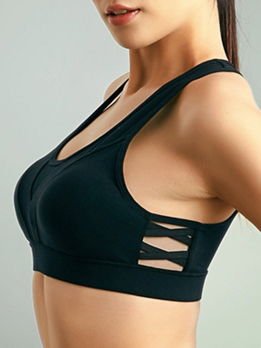 Back Closure Non-Adjusted Straps Breathable Sports Bra