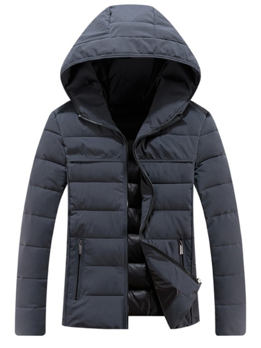 Straight Plain Thick Casual Men's Down Jacket