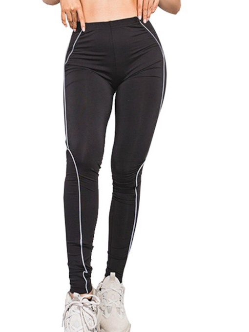 Color Block Quick Dry Stripe Sports Leggings for Women