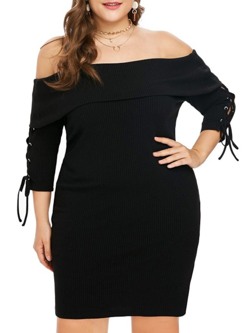 Sexy Bodycon Lace-Up Women's Sweater Dress