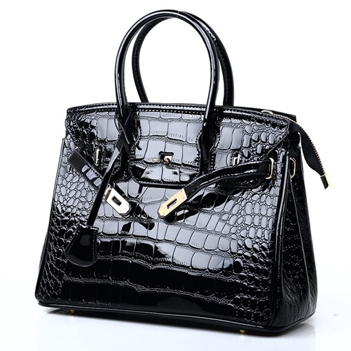 Alligator PU Thread Square Tote Bags