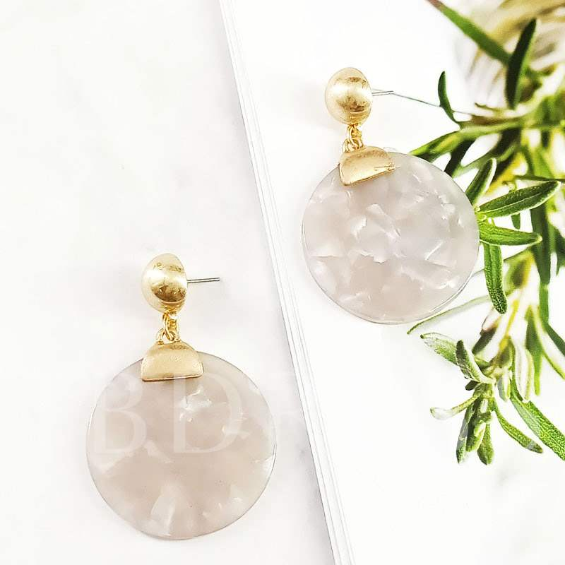 Geometric Shape Resin Alloy Party Earrings