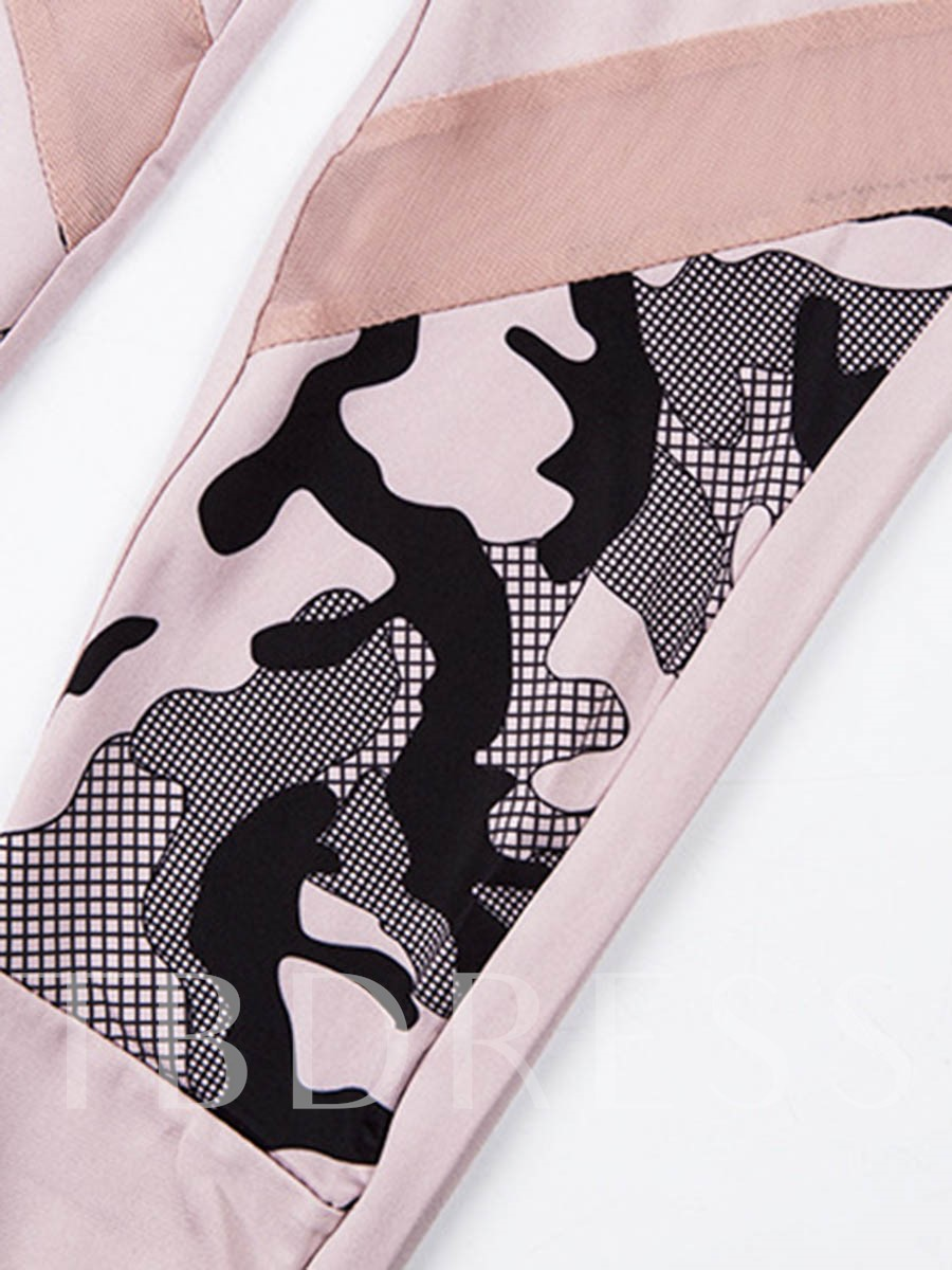 Workout Suit Camouflage Letter Quick Dry Sleeveless Women's Sports Set