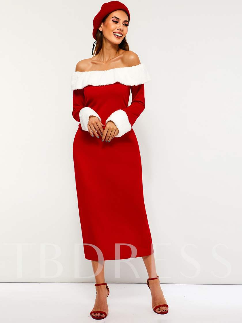 Off Shoulder Sexy Women's Long Sleeve Dress
