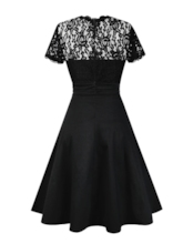 A-Line Vintage Elegant Women's Lace Dress