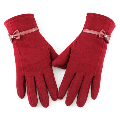 Bowknot Simple Winter Gloves