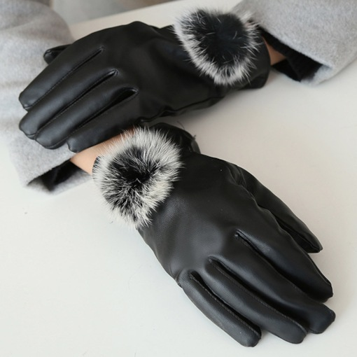 Leather Simple Winter Gloves