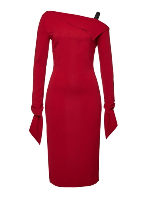 Split Long Sleeve Women's Bodycon Dress