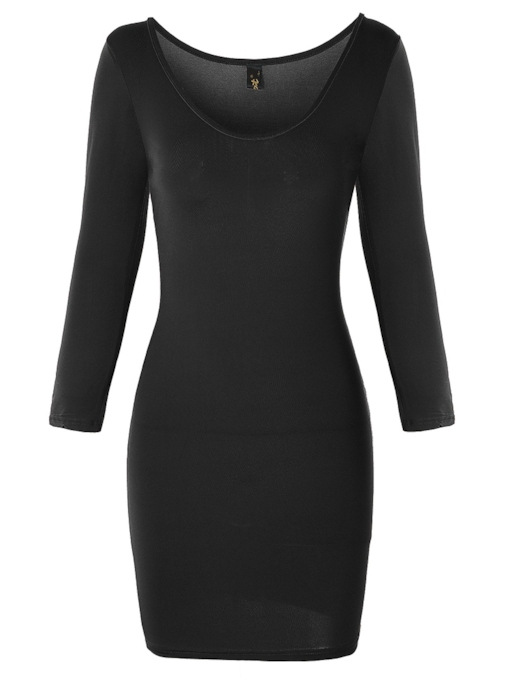 Sexy Plain Pullover Women's Bodycon Dress