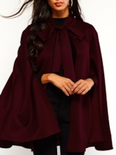 Thick Suede Plain England Winter Women's Cape