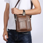 European Plain PU Square Crossbody Bags