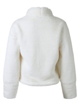 Flocking Thick Fluffy Teddy Plain Women's Sweater